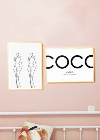 CURVES & COCO CHANEL I AM FASHION POSTERS