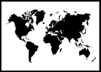 MAPS CITIES Beautiful Posters Of Your Favorite Cities - World map silhouette poster