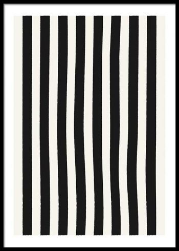 BLACK STRIPES POSTER