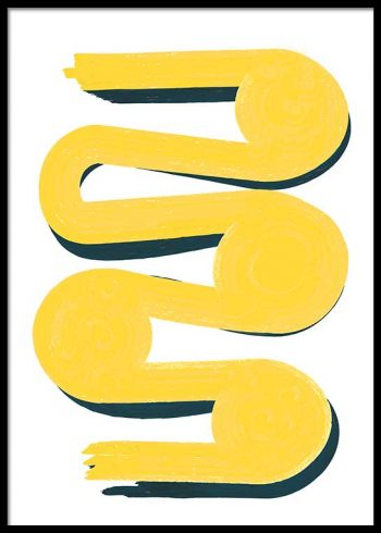 YELLOW STROKE POSTER