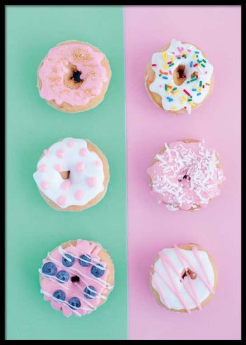 PASTEL DONUTS POSTER