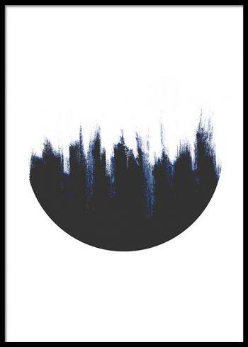 BLUE CIRCLE NO. 1 POSTER