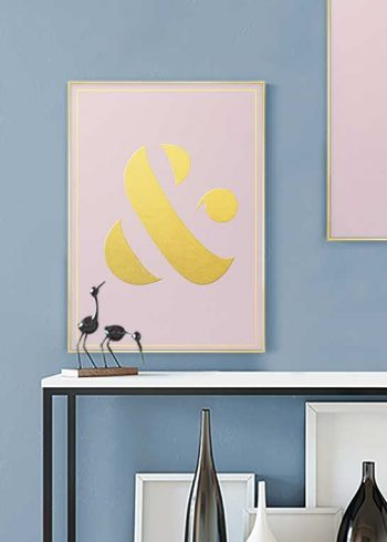 GOLD AMPERSAND POSTER