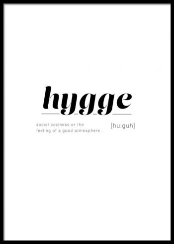 HYGGE DEFINITION POSTER