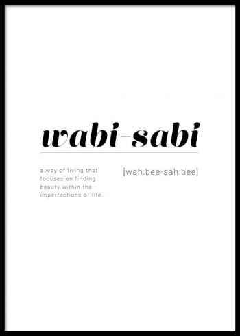 WABI-SABI DEFINITION POSTER