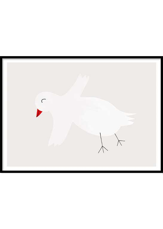 HAPPY BIRD POSTER