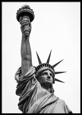 Poster depicting the Statue of Liberty in New York