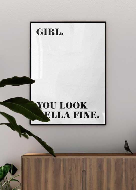 HELLA FINE GIRL POSTER