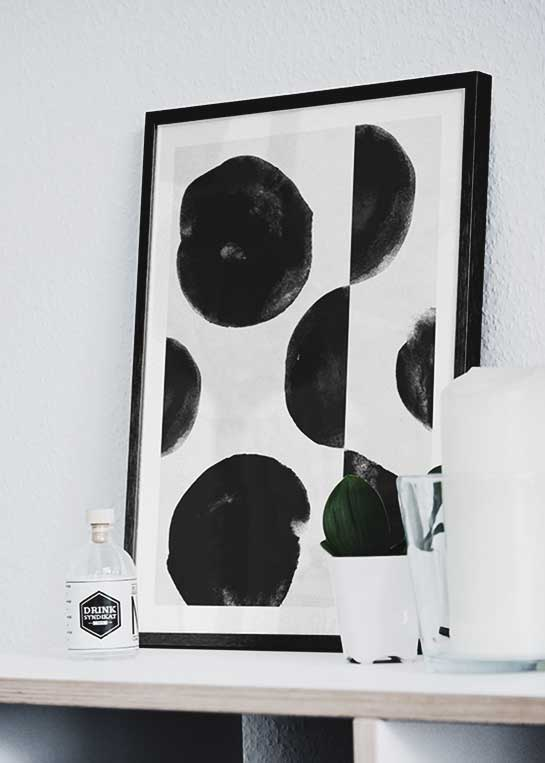 BLACK WATER COLOR POSTER