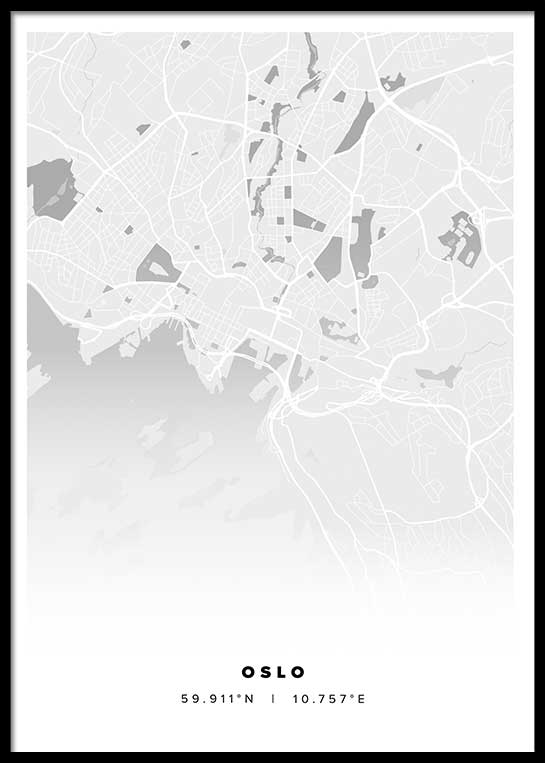 OSLO CITY MAP POSTER