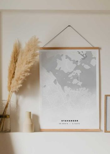 STAVANGER CITY MAP POSTER
