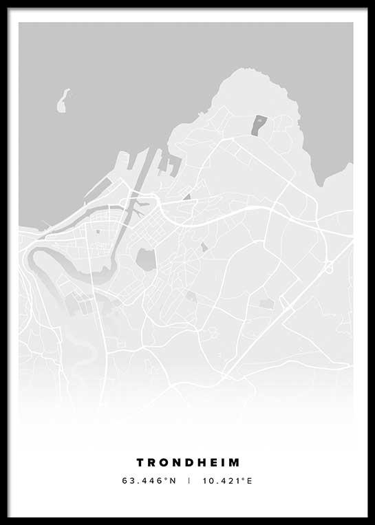 TRONDHEIM CITY MAP POSTER