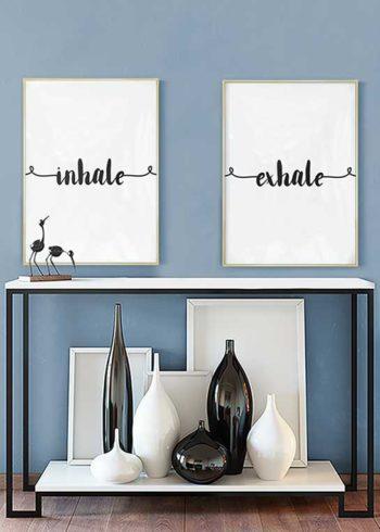INHALE SWIRL & EXHALE SWIRL POSTERS