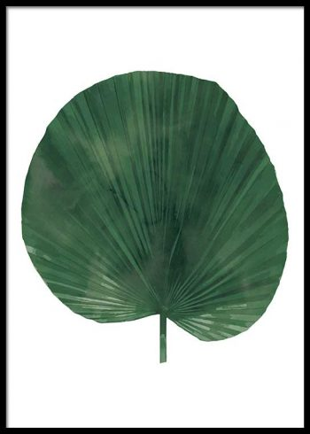 ROUND PALM LEAF WATER COLOR POSTER