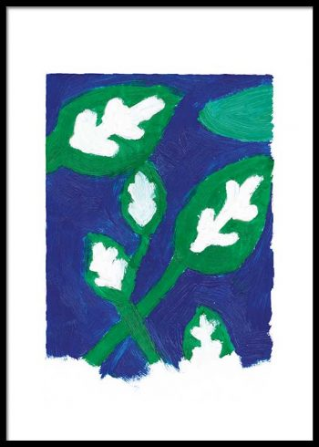 ABSTRACT FOLIAGE PAINTING POSTER