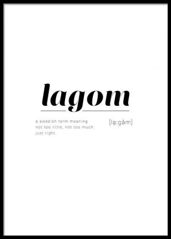 LAGOM DEFINITION POSTER