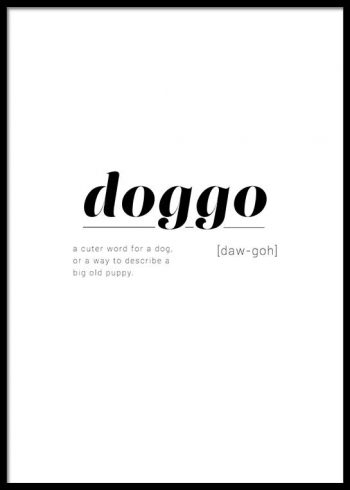 DOGGO DEFINITION POSTER