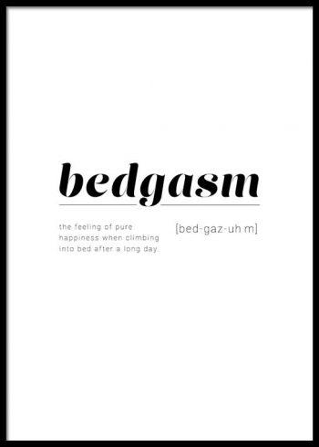 BEDGASM DEFINITION POSTER