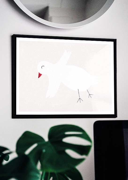 HAPPY BIRD POSTER
