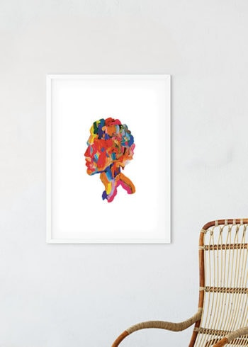 ABSTRACT BUST POSTER