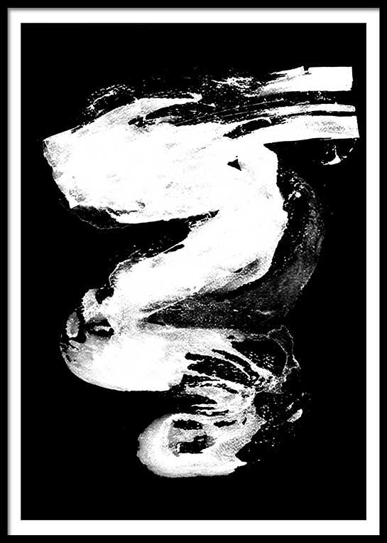 WHITE ON BLACK NO. 2 POSTER