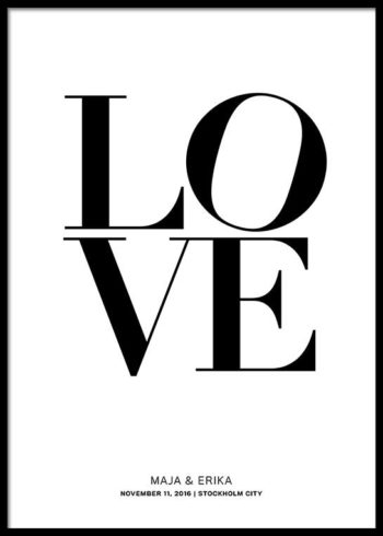 LOVE PERSONLIG POSTER