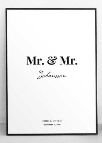 MR. & MR. CUSTOM MADE POSTER