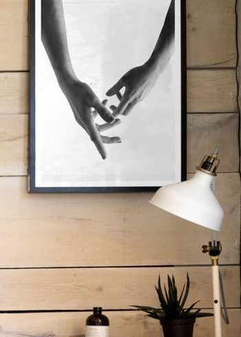 TOUCHING HANDS POSTER