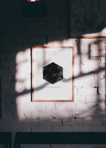WATERCOLOR HEXAGON POSTER