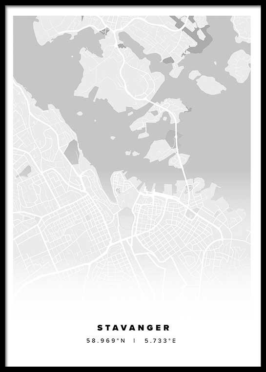 STAVANGER CITY MAP POSTER
